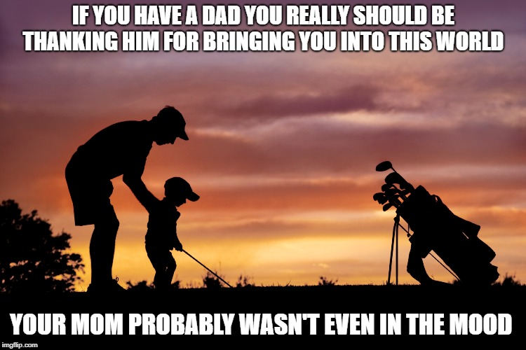 you can thank your dad | IF YOU HAVE A DAD YOU REALLY SHOULD BE THANKING HIM FOR BRINGING YOU INTO THIS WORLD YOUR MOM PROBABLY WASN'T EVEN IN THE MOOD | image tagged in dads,funny,true | made w/ Imgflip meme maker