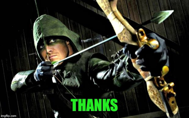 Arrow | THANKS | image tagged in arrow | made w/ Imgflip meme maker