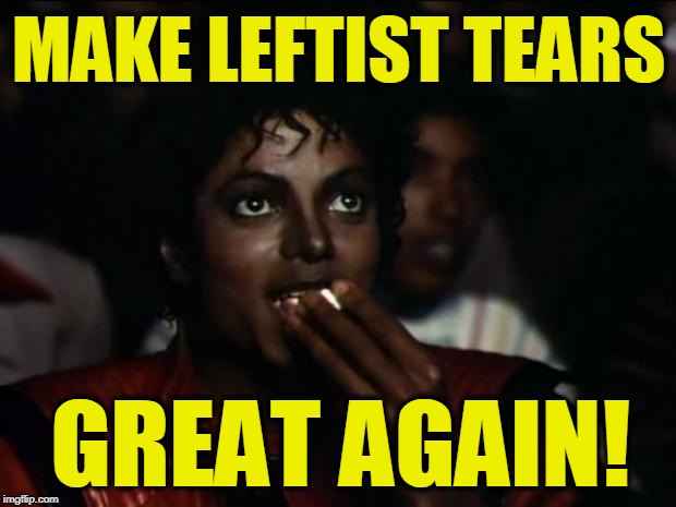 Michael Jackson Popcorn Meme | MAKE LEFTIST TEARS GREAT AGAIN! | image tagged in memes,michael jackson popcorn | made w/ Imgflip meme maker
