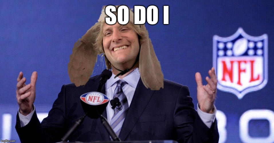 Harry Dunn NFL Commissioner | SO DO I | image tagged in harry dunn nfl commissioner | made w/ Imgflip meme maker