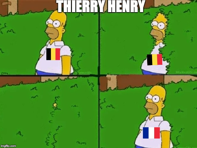 HOMER BUSH | THIERRY HENRY | image tagged in homer bush | made w/ Imgflip meme maker