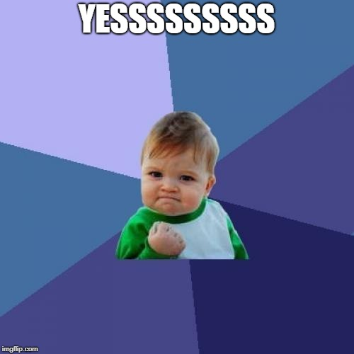 Success Kid Meme | YESSSSSSSSS | image tagged in memes,success kid | made w/ Imgflip meme maker