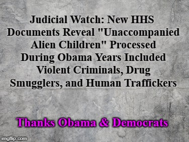 "Thanks Obama for ""unaccompanied alien children"" 