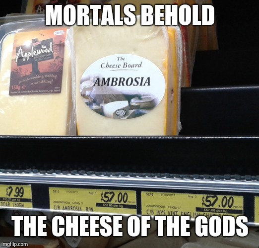 Mortals Behold! | MORTALS BEHOLD THE CHEESE OF THE GODS | image tagged in percy jackson,cheese | made w/ Imgflip meme maker