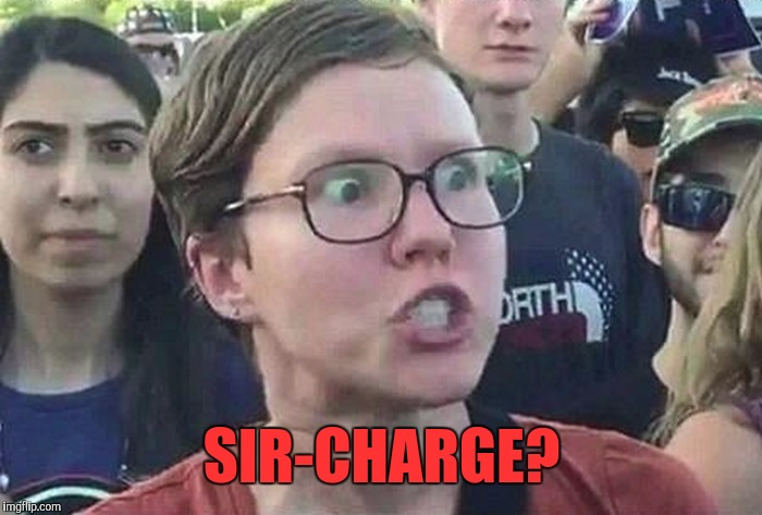 Triggered Liberal | SIR-CHARGE? | image tagged in triggered liberal | made w/ Imgflip meme maker