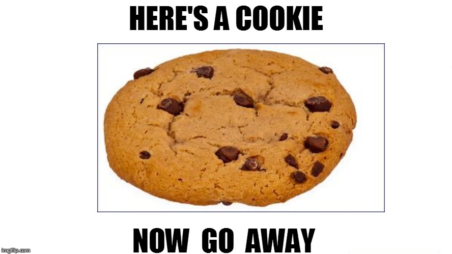 HERE'S A COOKIE NOW  GO  AWAY | made w/ Imgflip meme maker