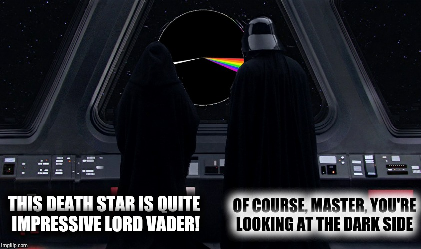 THIS DEATH STAR IS QUITE IMPRESSIVE LORD VADER! OF COURSE, MASTER, YOU'RE LOOKING AT THE DARK SIDE | made w/ Imgflip meme maker