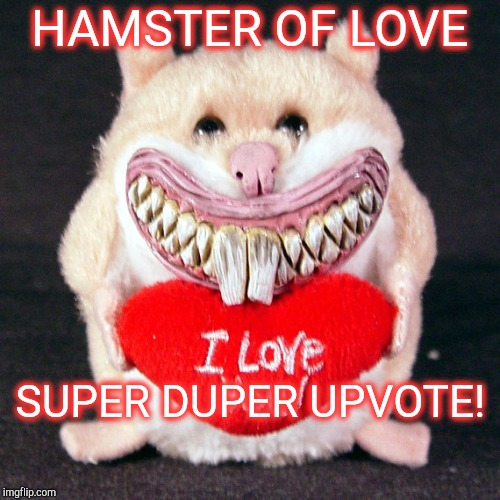 HAMSTER OF LOVE SUPER DUPER UPVOTE! | made w/ Imgflip meme maker