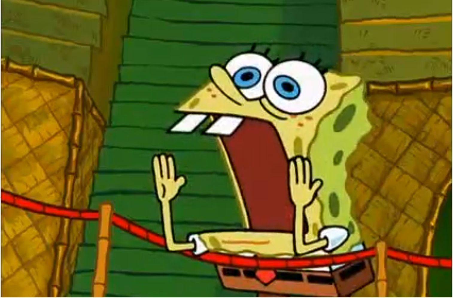 Spongebob yell meme generator imgflip