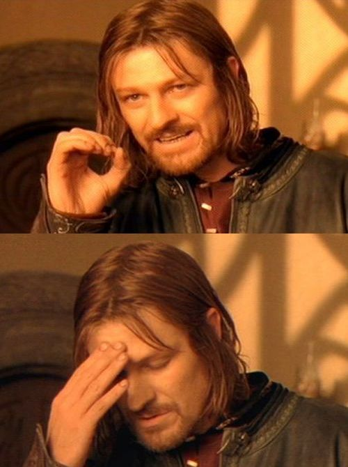 One Does Not Simply Facepalm Template