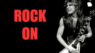 RANDY RHOADS | ROCK ON | image tagged in randy rhoads | made w/ Imgflip meme maker