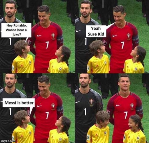image tagged in memes,cristiano ronaldo,messi | made w/ Imgflip meme maker