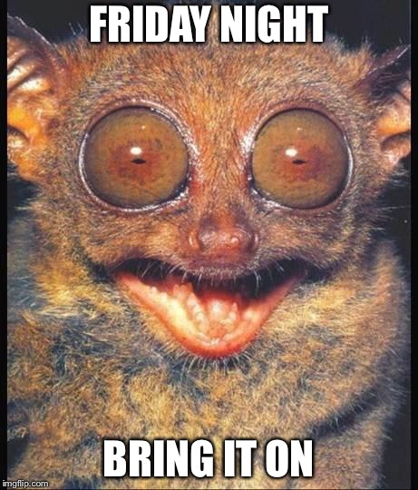 FRIDAY NIGHT BRING IT ON | image tagged in tgif | made w/ Imgflip meme maker