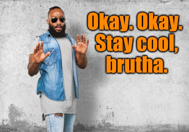 Okay. Okay. Stay cool, brutha. | made w/ Imgflip meme maker