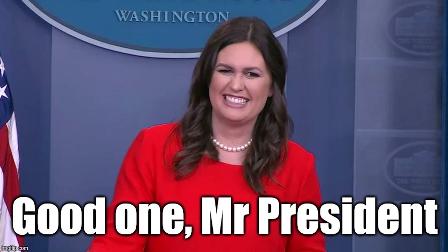 Good one, Mr President | made w/ Imgflip meme maker
