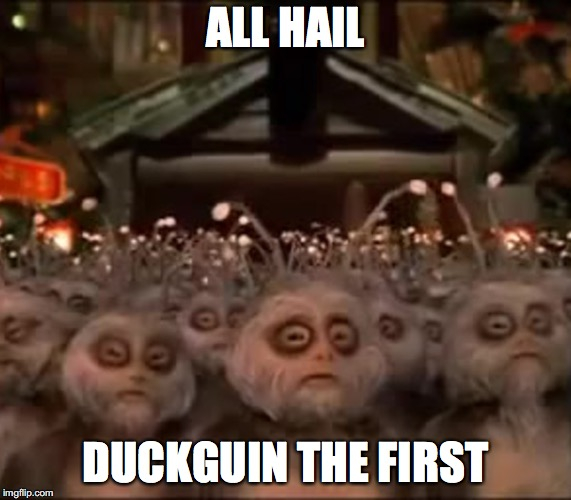 All Hail Rohan | ALL HAIL DUCKGUIN THE FIRST | image tagged in all hail rohan | made w/ Imgflip meme maker