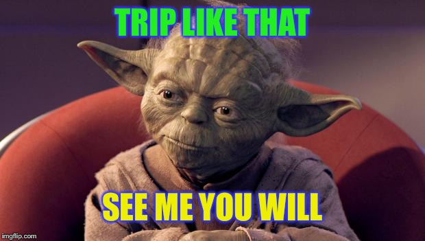 Yoda Wisdom | TRIP LIKE THAT SEE ME YOU WILL | image tagged in yoda wisdom | made w/ Imgflip meme maker