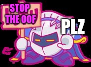 Image Tagged In Meta Knight Plz Stop Oof Roblox Meta Knight Kirby