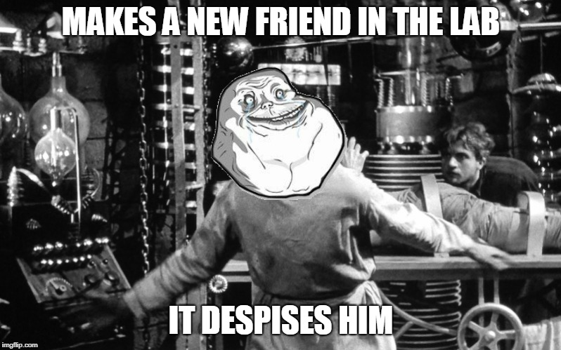 MAKES A NEW FRIEND IN THE LAB IT DESPISES HIM | made w/ Imgflip meme maker