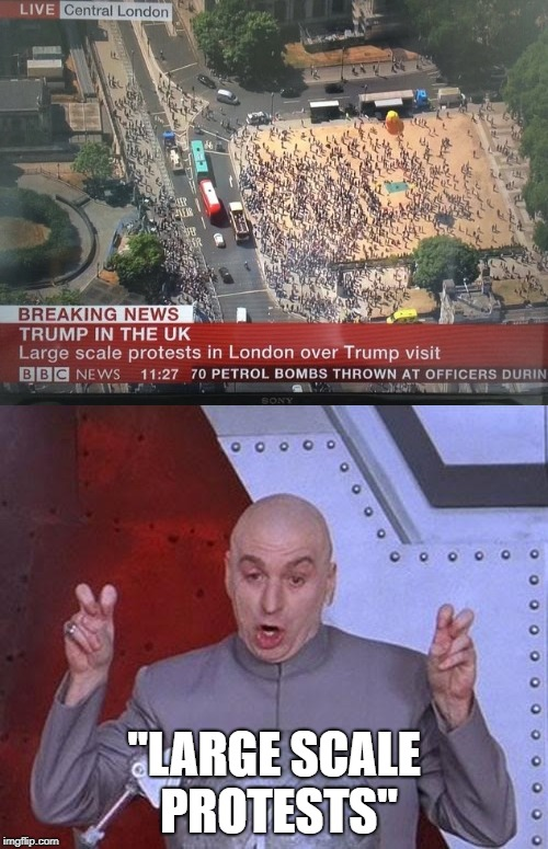 "I've Seen More People in Line for a Recent Billy Ray Cyrus Concert than This | ""LARGE SCALE PROTESTS"" 