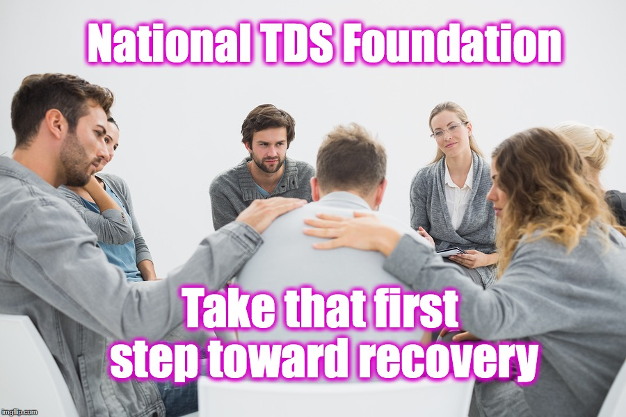 National TDS Foundation Take that first step toward recovery | made w/ Imgflip meme maker