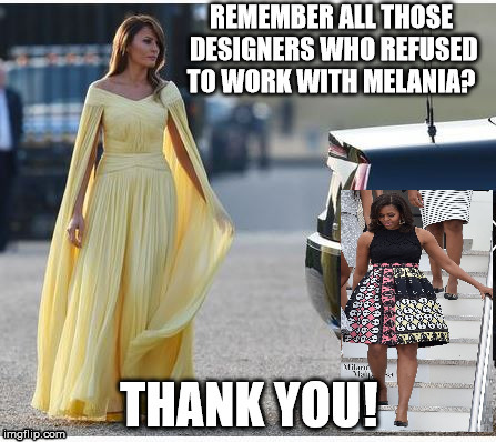Melania  | ! | image tagged in melania trump,fashion | made w/ Imgflip meme maker