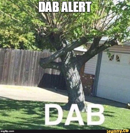 No dabbing allowed! | DAB ALERT | image tagged in dabbing,tree,tree dab,illegal,against the dab police | made w/ Imgflip meme maker