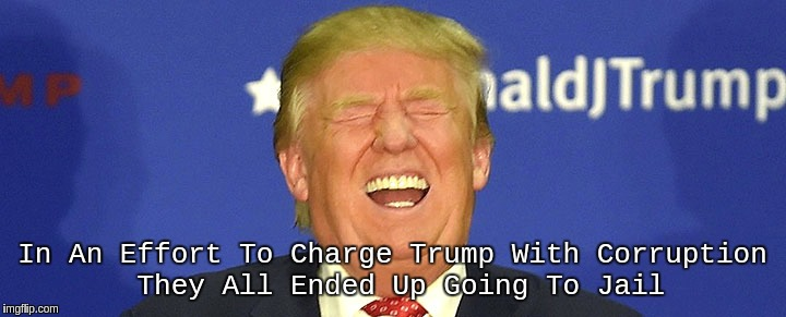 CORRUPTION  | In An Effort To Charge Trump With Corruption They All Ended Up Going To Jail | image tagged in potus45,potus | made w/ Imgflip meme maker
