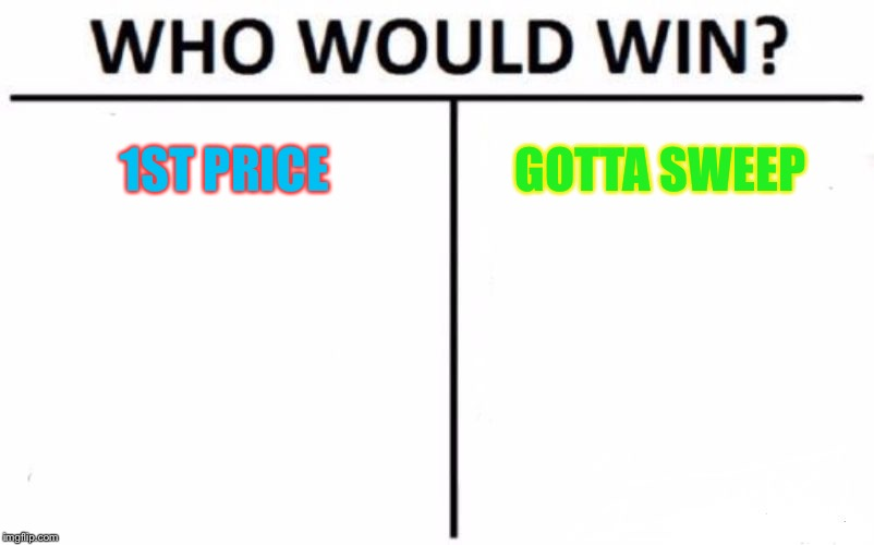 Who would win this? | 1ST PRICE GOTTA SWEEP | image tagged in memes,who would win | made w/ Imgflip meme maker