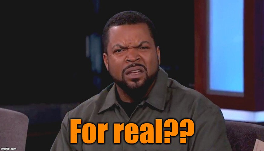 Really? Ice Cube | For real?? | image tagged in really ice cube | made w/ Imgflip meme maker