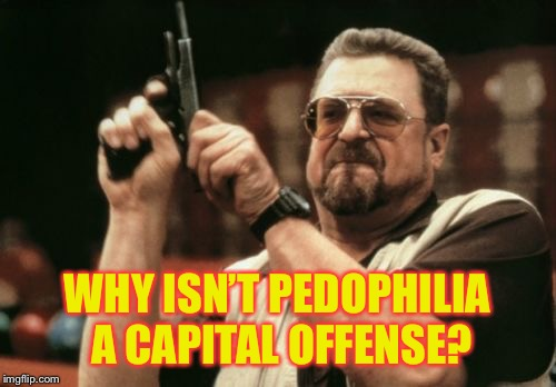 Am I The Only One Around Here Meme | WHY ISN'T PEDOPHILIA A CAPITAL OFFENSE? | image tagged in memes,am i the only one around here | made w/ Imgflip meme maker