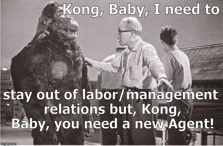 Ishii-san, overcome with pity, can't comment on Kong's new contract but only Marilyn Monroe made less as lead in a major film. |  Kong, Baby, I need to; stay out of labor/management relations but, Kong, Baby, you need a new Agent! | image tagged in kong with director,marilyn monroe,your agent is a,not talent bum,bentoutashape,douglie | made w/ Imgflip meme maker