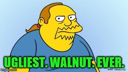 Worst. Thing. Ever. (Simpsons) | UGLIEST. WALNUT. EVER. | image tagged in worst thing ever simpsons | made w/ Imgflip meme maker