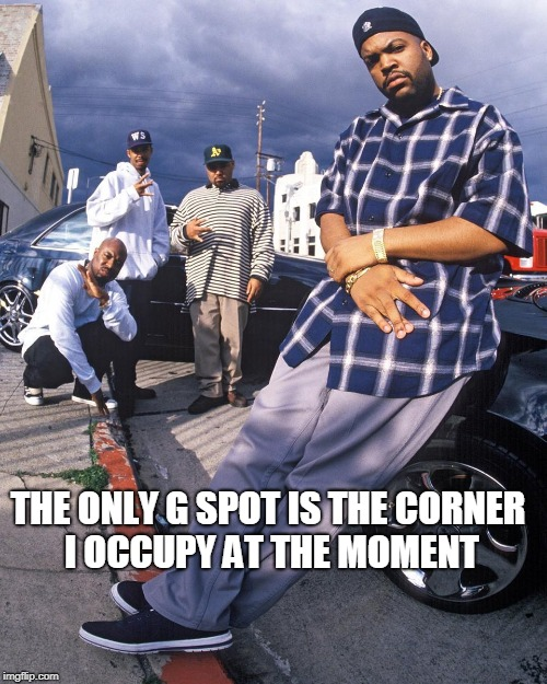 THE ONLY G SPOT IS THE CORNER I OCCUPY AT THE MOMENT | image tagged in g spot | made w/ Imgflip meme maker