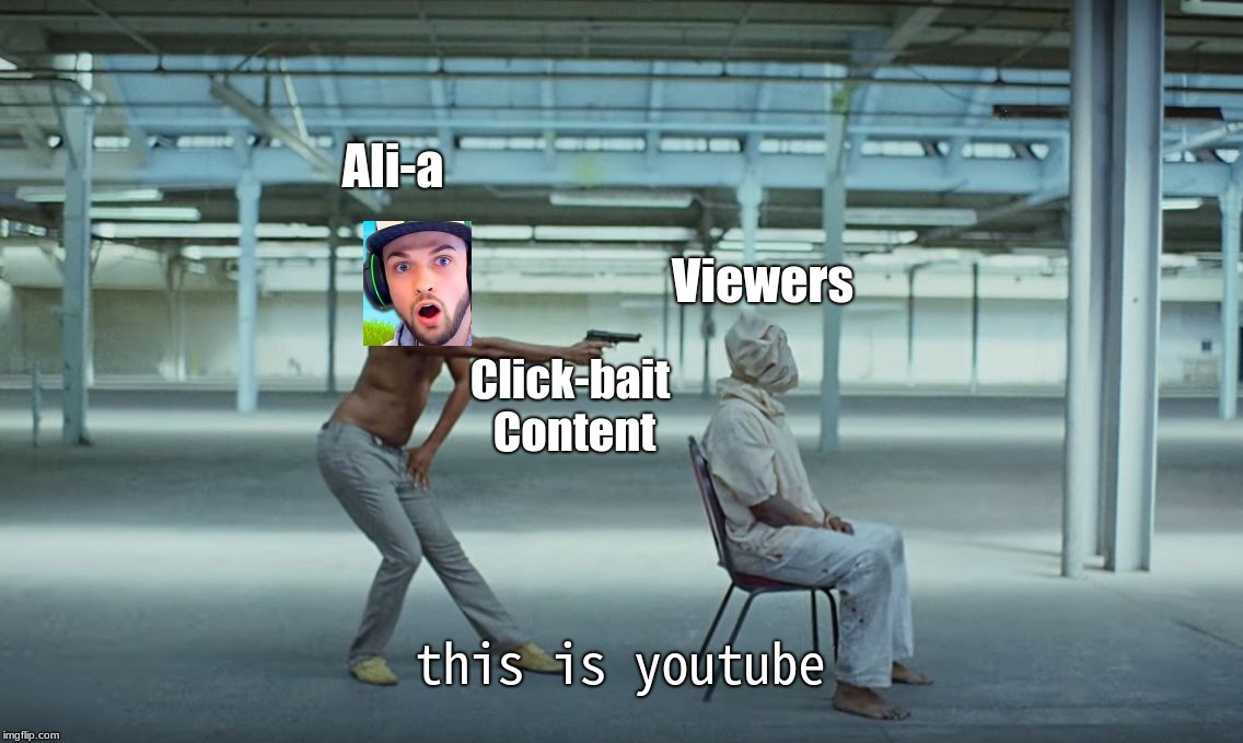 This is America / Ali-a | Ali-a Viewers Click-bait Content this is youtube | image tagged in this is america | made w/ Imgflip meme maker