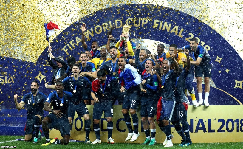 Congrats, FRANCE ! | image tagged in france,football,winner,2018,fifa world cup,russia | made w/ Imgflip meme maker
