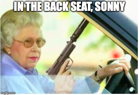 IN THE BACK SEAT, SONNY | made w/ Imgflip meme maker