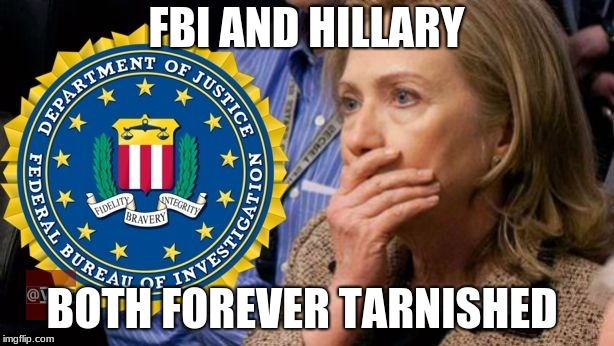 FBI AND HILLARY BOTH FOREVER TARNISHED | image tagged in hillary fbi | made w/ Imgflip meme maker