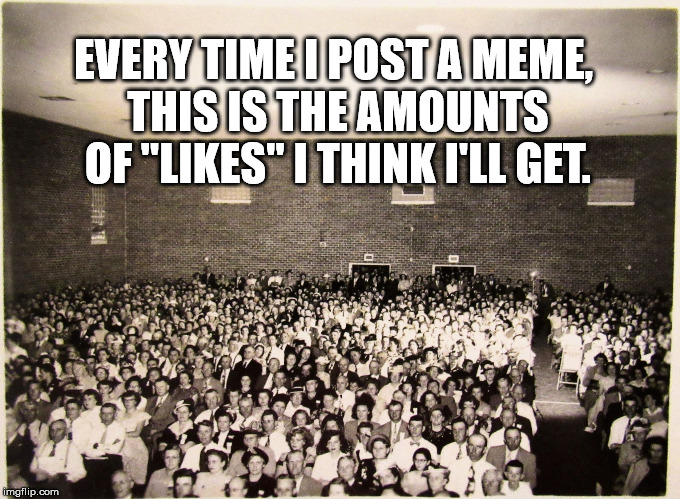 "EVERY TIME I POST A MEME, THIS IS THE AMOUNTS OF ""LIKES"" I THINK I'LL GET. 
