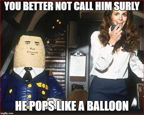 YOU BETTER NOT CALL HIM SURLY HE POPS LIKE A BALLOON | made w/ Imgflip meme maker