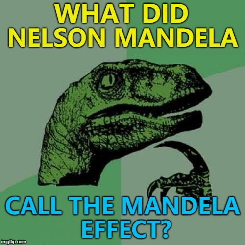 "The ""Me effect""? :) 