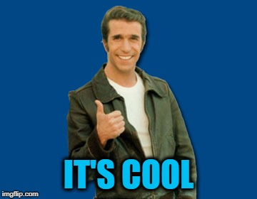 the Fonz | IT'S COOL | image tagged in the fonz | made w/ Imgflip meme maker