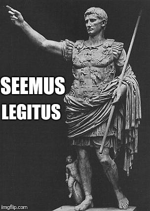 Seemus Legitus | SEEMUS LEGITUS | image tagged in seems legit,fake latin,seemus,legitus,caesar | made w/ Imgflip meme maker