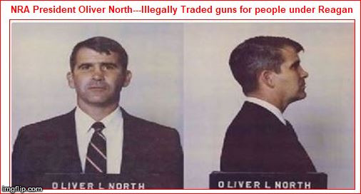 Image tagged in trump nra oliver north - Imgflip