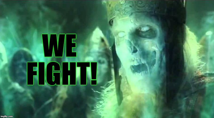 We fight! | WE FIGHT! | image tagged in king of the dead,lord of the rings,memes | made w/ Imgflip meme maker