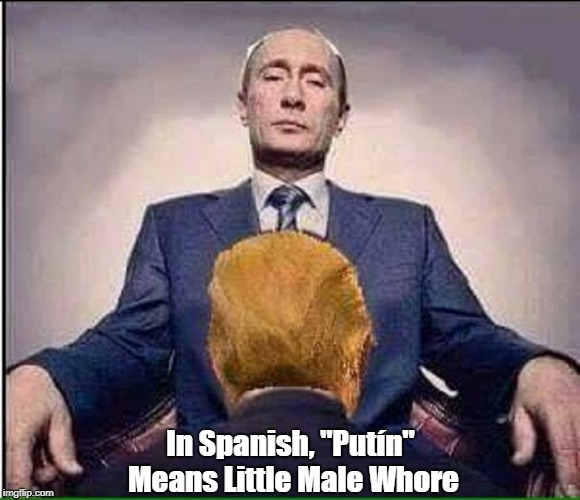 "In Spanish, ""Putín"" Means Little Male Whore 