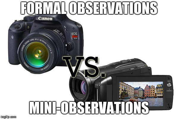 Educational Supervision and Evaluations |  FORMAL OBSERVATIONS; MINI-OBSERVATIONS | image tagged in education,administration,supervision,evaluation | made w/ Imgflip meme maker