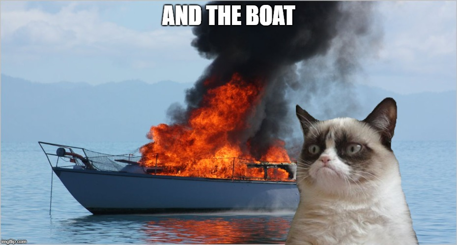 AND THE BOAT | made w/ Imgflip meme maker