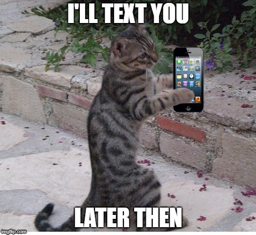 I'LL TEXT YOU LATER THEN | made w/ Imgflip meme maker
