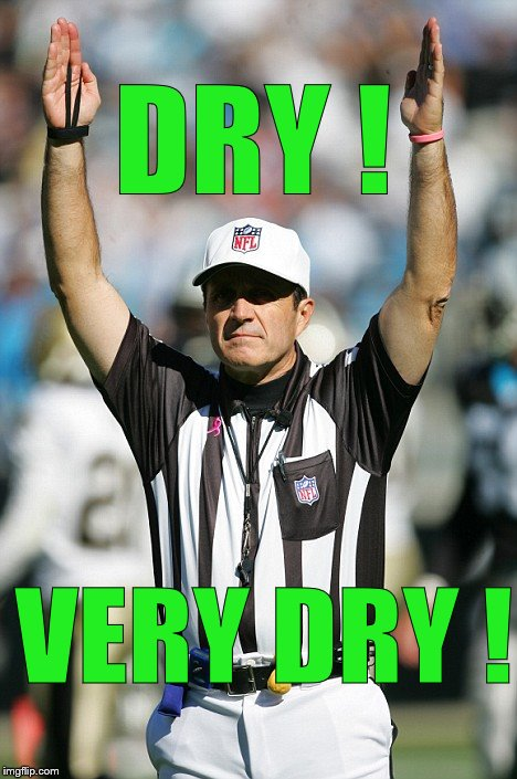 TOUCHDOWN! | DRY ! VERY DRY ! | image tagged in touchdown | made w/ Imgflip meme maker